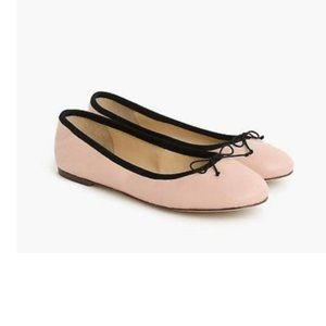 J Crew Evie ballet flats in leather